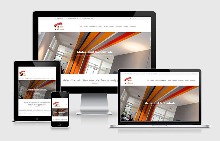 Neue Website für Maler Dräger: Mobil und im neuen Design!